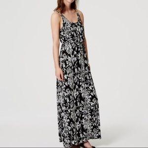 LOFT Petite Maxi Dress Floral Size XSP